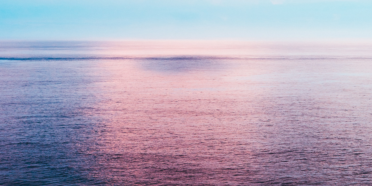 Open ocean at sunset
